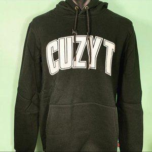 Cuzy T Men's Black/White Long Sleeve Winter Hoodie